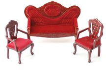 Chairs, Tables, Sofas / 1:12 scale Chairs, Tables and Sofas for your Dolls House