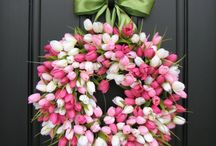 Wreaths / Perfect way to spruce up your front door/entrance.