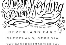 Typeography and Hand Lettering / by Wiregrass Weddings