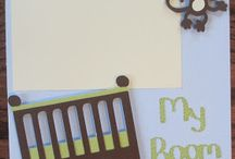 Baby papercrafting / scrapbook pages for a baby book