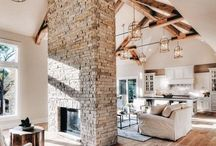 Rustic High Ceilings / High ceilings are IN! They're beautiful and adds more dimensions to interiors. Of course, with such a large room, you would need furniture that can complete the look. http://bit.ly/2yuGEbH