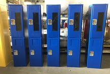 Webb Middle School - Reedsburg, WI #DeBourgh #Lockers / #Rebel #BlueHammer ##PianoHinge #SentryThreeLatch #LouveredVentilation #Corregidoor #SafetyGlass #SolidVentilation #DeBourghMadeSon #DeBourgh #Lockers