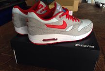 Nike Nikeid air max 1 grey white red zig woven and mesh / My sneakers