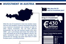 #investEU – country by country / €315 billion Investment Plan for Europe to boost jobs and growth. But what does that mean for your country? What is the context, what has been already done and what can be improved? Check our infographics and country factsheets for all 28 Member States in this album!  The Investment Plan - a major new initiative to get Europe growing again and get people back to work – was launched in the European Parliament on Wednesday 26 November 2014.
