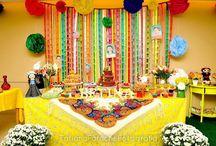 Mesa e decoração junina