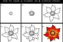 Blumen zeichnen Schritt für Schritt