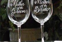 Bride and Groom Wine Glasses / Are you looking for a unique wedding gift? If so, I found these great bride and groom wine glasses that would make a fantastic wedding present. If the couple are wine drinkers this is something they not only will enjoy for a very long time. Just think every time they have a glass of wine together, these glasses will be there to remind them of that special day and you. / by Billies Finds