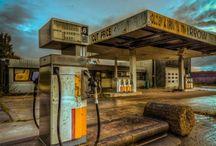 Fornøyelsesparker og bensinstasjoner