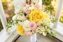 Yellow Pink Wedding