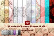 12 Patterns Flowers 02 Variant n°6#1
