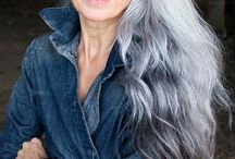 grey hair styles for women