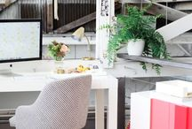 W O R K / Where you work doesn't have to be boring! Keep that workspace fresh and welcoming with these stylish ideas.