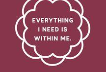 Positive Affirmations/Mantras