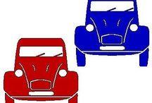 De 'lelijke eend' (2CV) / De auto van toen, de deuxcheveaux, citroën 2cv, kortom De Lelijke Eend! Een auto die zich bij uitstek leent om iets ludieks mee te doen. Kijk zelf maar! / by Janny Bos