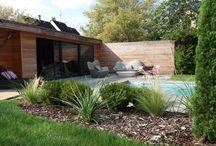 Aménagement de jardin avec piscine