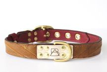 The Ruby Collection & Inspiration / Our bold and bright ruby red collars provide a little color for the pups that like to stand out from the crowd. Featuring the leather from reclaimed cowboy boots, brass plated hardware, laser etched details, hand painted edges, and custom stitching. Each dog collar comes with a genuine, brass plated Boots & Arrow tag.