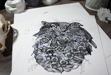 Creative Minds | Dark / Illustrations that inspire me | Predominately dark pallets