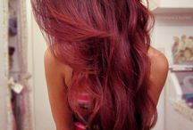 Haircolours and styles / Red, long and curly hair
