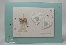 Stampin' Up Engagement Cards 2013