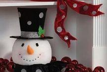 Χριστουγεννιάτικοι χιονάνθρωποι