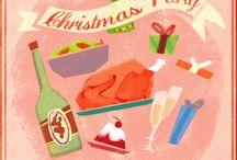 Festive drinks party