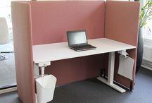 """Screenz A30 """"Booth"""" / Akoestische scheidingswanden in """"Booth"""" opstellingen. Ideaal voor bijv. stiltewerkplekken en callcenter werkplekken"""