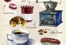 dibujos desayuno