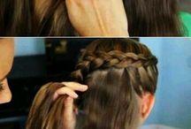 Frisyre med oppsatt hår