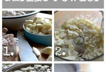 How to make powdered garlic and veges.