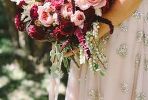 Burgundy, Crimson, Pinks and Peach Bouquets