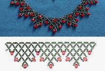 collier de perles rouge