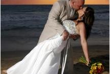 Wed photos on beach