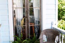 Hage / Hage ideer, hageskur, beplanting krukker, inneplanter, ideer for div pynt i hagen, verandaen, hønsehus mm