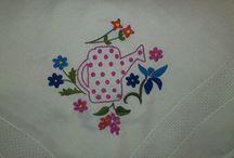 Other embroidery / Each other, which is not cross stitch. Minden más, ami nem keresztszemes.