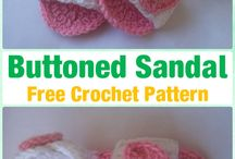 Crocheted baby sandals