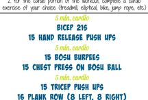 Arm Workouts / A collection of arm workouts that target the upper body: Biceps, triceps, shoulders and back / by Peanut Butter Fingers