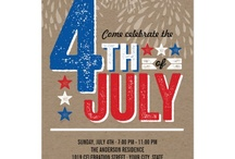 4th of July Celebration / 4th of July Party Celebration Invitations + Party Decorations + Accessories by fatfatin