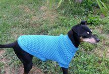 Hundetøj / Denne opslagstavle er med hunde tøj En hver hun vil elske dette lækre hjemmestrikket tøj, når det bliver vinter, og som en lille lun frakke når det er koldt, og den skal ud og tisse