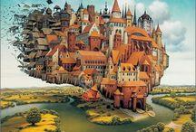 Jacek Yerka e seu surrealismo fantástico ~ Polonês