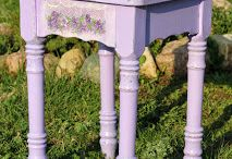 Lilac stool / Restoration of furniture