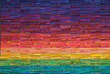 duhový, barevný quilt