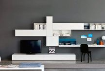 tv unit with study table