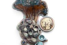 Found Art/Assemblage/Unconventional Materials Jewelry and Objects / Unconventional materials and found objects.  Assemblage.