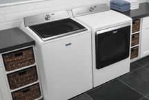 The Great American Laundry Room / With appliances and decor all from American companies, it's easy to make a laundry room as good looking as it is hard working.