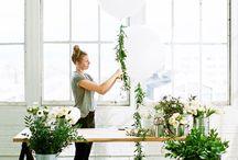 balloon / floral arrangements