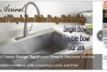 Kitchen Sinks / Find a vast variety of kitchen farmhouse sinks at the online store of  eModernDecor.com. These stainless steel kitchen sinks are available in curved or flat front design in a wide range of sizes. Browse through our website for more details.