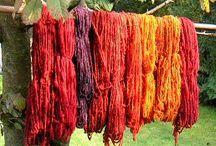 Wol verven / Wol verven met natuurlijke grondstoffen.