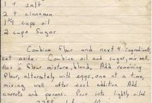 Handwritten recipes
