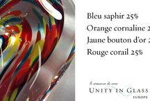Gallery of Colour Combinations / Here are a number of color combinations that we found especially beautiful, shown here in our Unity Hearts, to provide a spark of inspiration...  Enjoy!  For other tips and recommendations, come visit us at http://tinyurl.com/znv8ksl