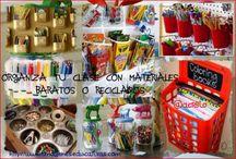 Organización de la clase / Colección de Imágenes con diferentes ideas para ordenar y tener organizada tu clase, aula o salón
